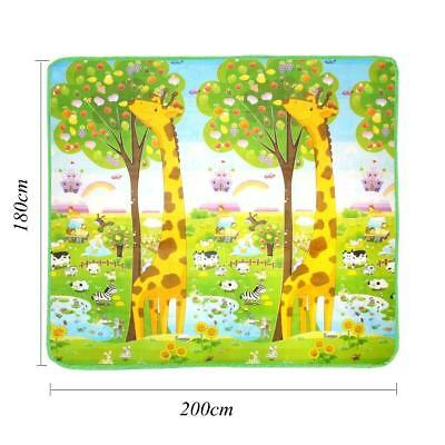 Educational Baby Mat 2 Sided Soft Foam Play Carpet Kids 200X180cm *HIGH QUALITY*