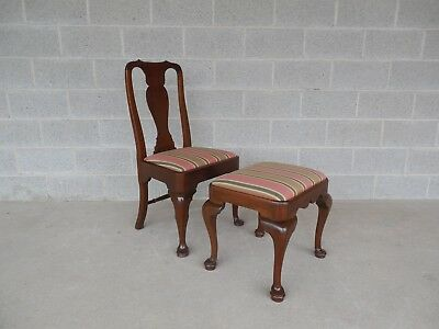 Virginia Craftsmen Reproductions Georgian Style Queen Anne Leg Chair & Stool