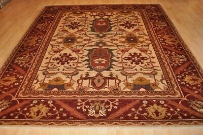 TOP QUALITY 8' X 10' WOOL Persian design vegetable dye hand-woven oriental rugs.