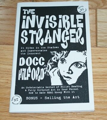 HILFORD, The Invisible Stranger--detailed mental routine      TMGS Book Blowout
