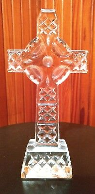 Waterford Crystal Celtic Cross Made in Ireland 8 Inches Tall Perfect Condition
