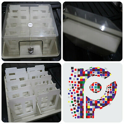 "Golding 100 3.5"" Floppy Disk Storage container with dividers Amiga Atari st PC"