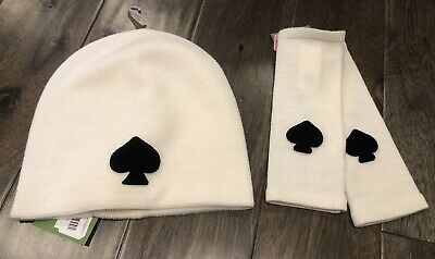 57e041711b4c NEW Kate Spade Beanie Hat Cap Arm Warmer Set Cream NWT FREE Shipping