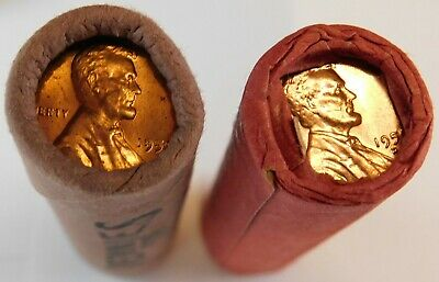 1959 P & D Obw Original Bank Wrapped Roll Bu Uncirculated Lincoln Cent Pennies