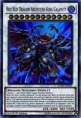 Hot Red Dragon Archfiend King Calamity - DUPO-EN059 - Ultra Rare 1st Edition