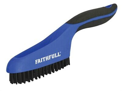 Faithfull FAISB164SP Scratch Brush Soft Grip 4 x 16 Row Plastic