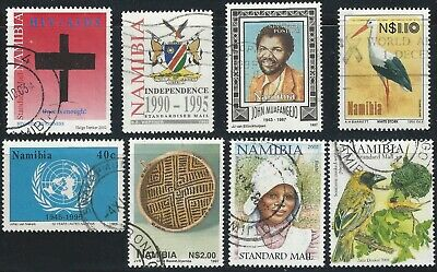 Namibia 1994-2002, lot of 8 varios stamps, Used / FU
