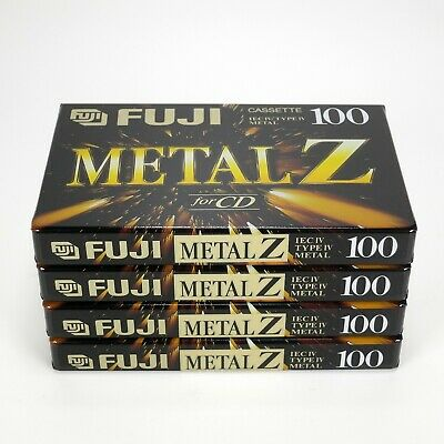 4 x Fuji Metal-Z 100 (1995-1997) Type IV / Metal Tape - Sealed - Made in Japan