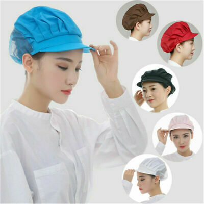 Cook Adjustable Men Women Kitchen Baker Chef Elastic Cap Hat Catering 6 Colors