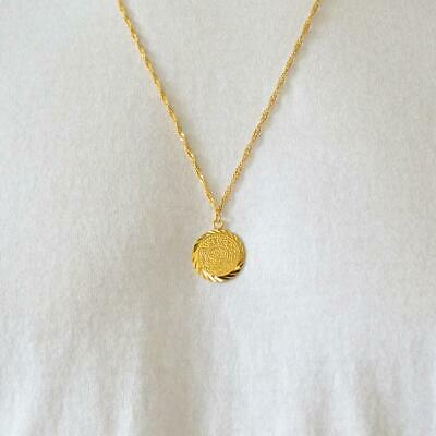 39456a58cadb5 BABYLONIAN PERSIAN COIN Necklace Pendant Men & Women Necklaces 24k Gold  Plated