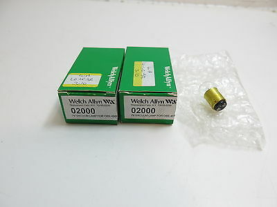Lot Of 2 New Welch Allyn 6V Vacuum Lamp Bulb For Obs 45003 Model 02000