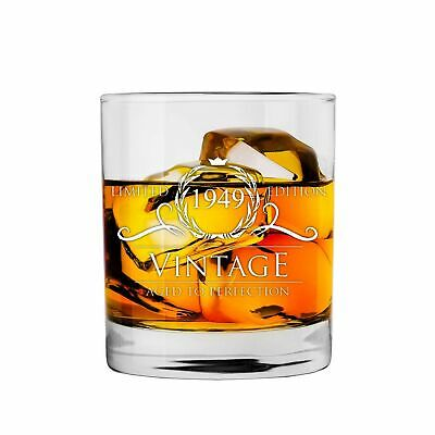 1949 70th Birthday Gifts For Women And Men Whiskey Glass Party Supplies Decorations Anniversary Gift Ideas Him Her Dad Mom