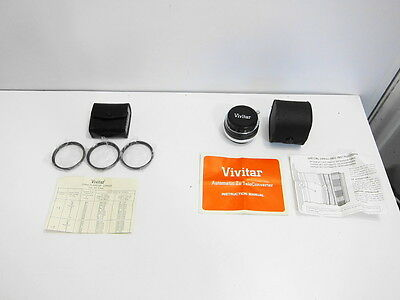 Vivitar Close-Up 3 Lens Set (Unused) + Vivitar Tele Converter 2X-7