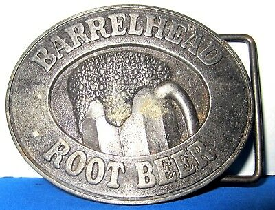Vintage Barrelhead Root Beer Belt Buckle 1970's about