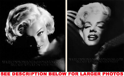 MARILYN MONROE THE FACE OF BEAUTY (2) RARE 8x10 PHOTOS