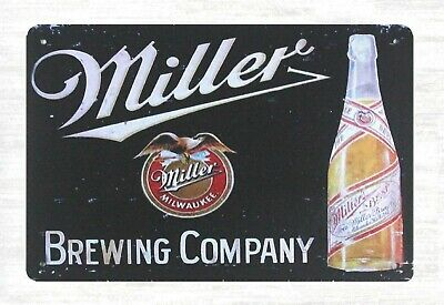 Miller Brewing Company beer garage carport tin sign rooster decor