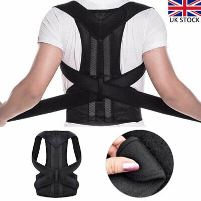 Adjustable Posture Corrector Corset Back Brace Support Shoulder Straightener UK