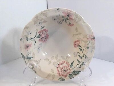 Johnson Brothers England Lynton Pink Blue Flower 6 Inch Cereal Bowl