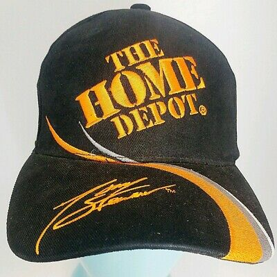 cheap for discount 4ecb7 6e01f Vintage Tony Stewart Home Depot  20 Snapback Hat Cap Joe Gibbs Racing Nascar