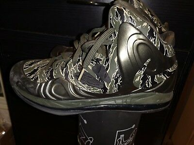 separation shoes 49cd6 2b04d Nike Hyperposite Air Max Tiger Stripe Camo Cargo Khaki Bamboo Black size 12