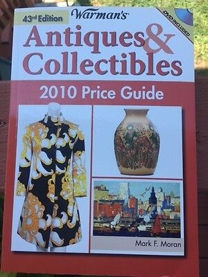 WARMAN'S Antiques & Collectibles 43rd Ed 2010 Price Guide Includes DVD Like New