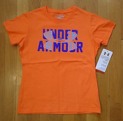 NWT UNDER ARMOUR SHIRT CHARGED COTTON GIRLS YOUTH SMALL MEDIUM LARGE XLARGE