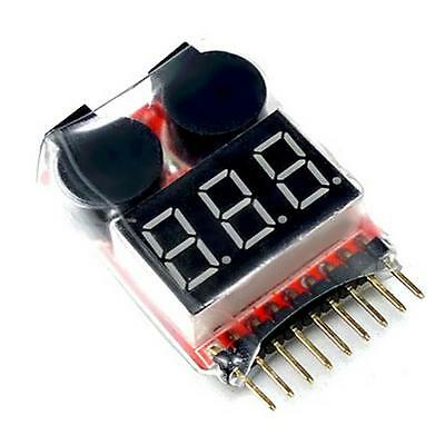 New 1-8S 2in1 RC Li-ion Lipo Fe Battery Low Voltage Meter Tester Buzzer Alarm FT