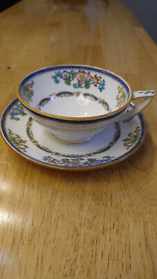 Antique Mintons Pattern B898  Cup and Saucer Floral  RARE, England