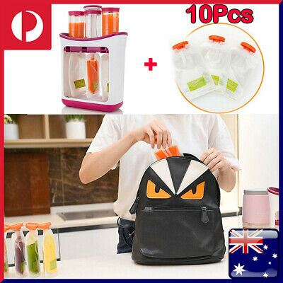 Fruit Maker Dispenser Station +10 POUCH Infant Baby Feeding Food Squeeze Toddler