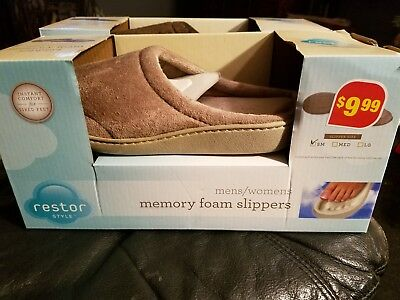 Restor Style Memory Foam Slippers Unisex Size Small (6-7) Brand New In Box