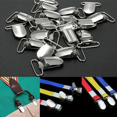 10Pcs Metal Suspender Holders Clips Garment Clamp Plastic Insert Pacifier Clips