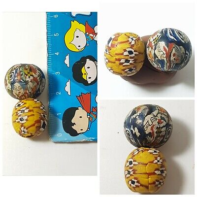 Very nice old mosaic glass beads lovely old gabri glass beads
