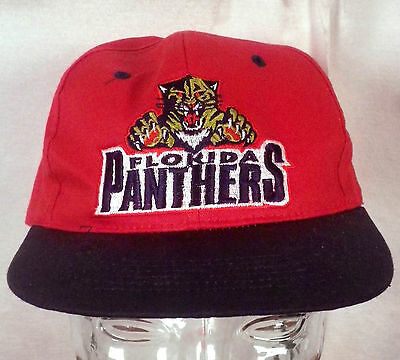 timeless design 4245e 64ca3 vtg 90s Florida Panthers NHL Twill Snapback Hat Cap fresh caps Youth size
