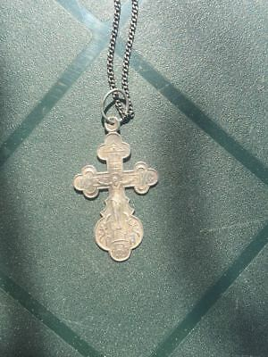 Beautiful silver cross with 925 chain