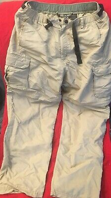 b198d1dd5d REI CO-OP MENS SZ M x 30L SAHARA CONVERTIBLE OUTDOOR HIKING CARGO PANTS #