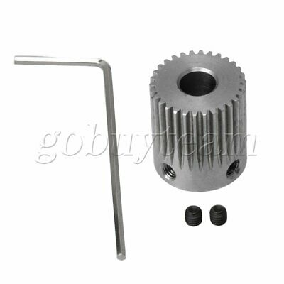 0.5 Module 6.35MM Hole Metal Silver Stainless Gear With Wrench and Screw
