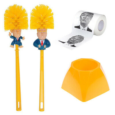 Toilet Brush Holders WC Donald Trump Toilet Brush Donald Trump Paper Napkin #