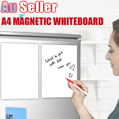 A4 Magnetic Home Soft Whiteboard Message Board Fridge Memo Marker Office