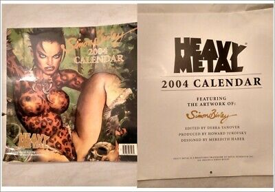 Heavy Metal Simon Bisley Calendario 2004 Artwork