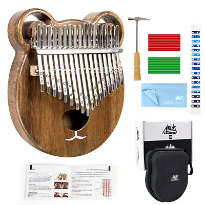 Kalimba 17 Thumb Piano Finger Key Mbira Education Musical Instrument Wood