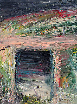 WORLD WAR ONE - ORIGINAL oil painting- ONE of a KIND! wwI wwi foxhole trench mud