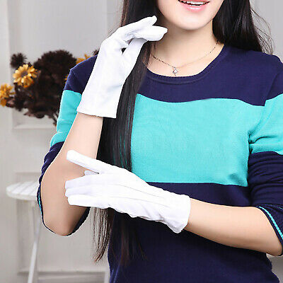 Three Ribs White Polyester Gloves Etiquette/Performance/Driving Point Non-slip