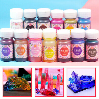 Hot 12 Colors Epoxy UV Resin Coloring Dye Colorant Resin Pigment Art Craft Paint