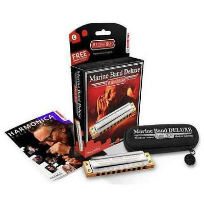 Hohner Marine Band Deluxe Harmonica in the Key of G