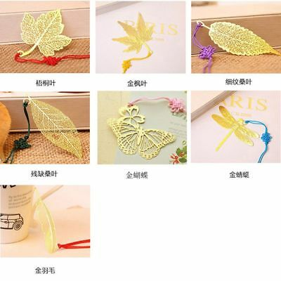 Tree Leaf Stationery Supplies Metal Bookmark Student Gift Mulberry Maple Leaf