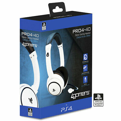 Official PRO4-40 Stereo Gaming Chat Headphones with Mic WHITE (PS4) New & Sealed