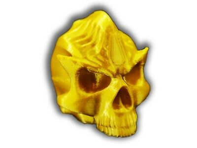 Aztec Death Whistle Gold Skull - Screaming Whistle 3D printed