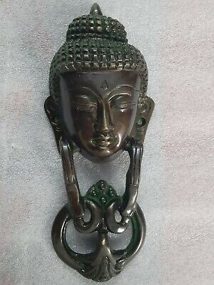 Door Knocker of Gautam Buddha face in Brass green color diwali decor