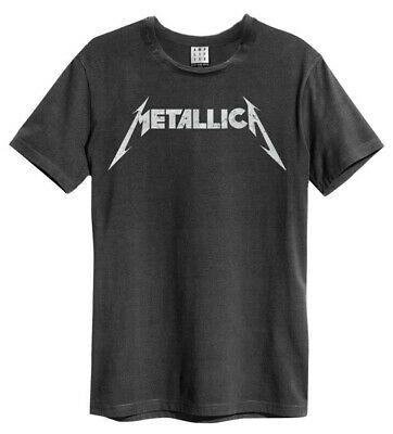 Metallica 'Logo' (Charcoal) T-Shirt - Amplified Clothing - NEW & OFFICIAL!
