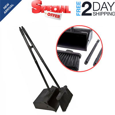 Duo-Pan Dustpan and Lobby Broom Combo 3 Foot Overall Height Standup Easy to use